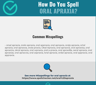 Correct spelling for Oral Apraxia