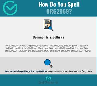 Correct spelling for Org2969