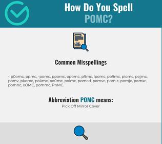Correct spelling for POMC