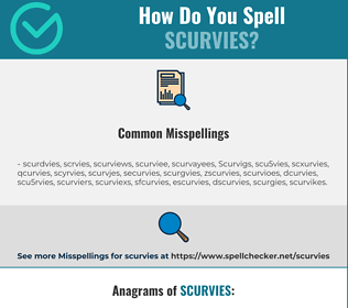 Correct spelling for Scurvies