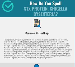 Correct spelling for Stx Protein, Shigella dysenteria