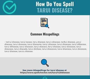 Correct spelling for Tarui Disease