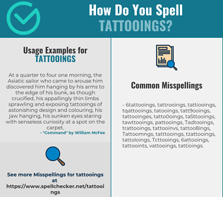 Correct spelling for Tattooings