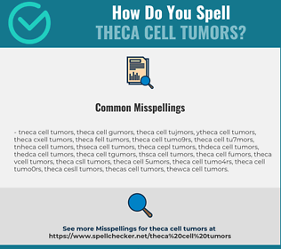 Correct spelling for Theca Cell Tumors