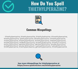 Correct spelling for Thiethylperazine