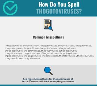 Correct spelling for Thogotoviruses