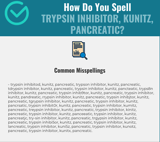 Correct spelling for Trypsin Inhibitor, Kunitz, Pancreatic