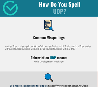 Correct spelling for UDP