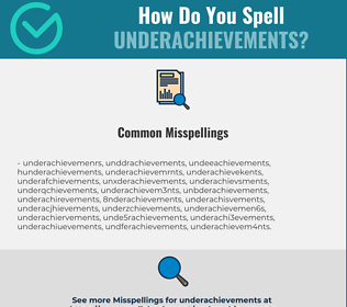 Correct spelling for Underachievements