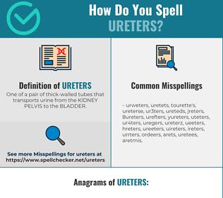 Correct spelling for Ureters