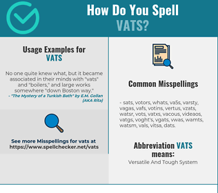 Correct spelling for VATS