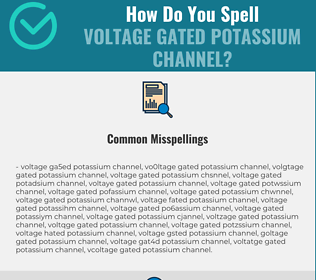 Correct spelling for Voltage Gated Potassium Channel