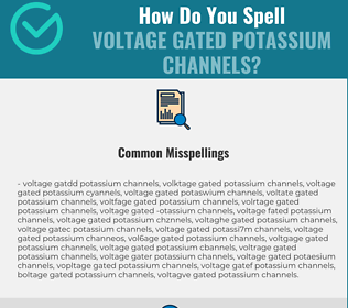 Correct spelling for Voltage Gated Potassium Channels