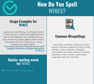 Correct spelling for Wines
