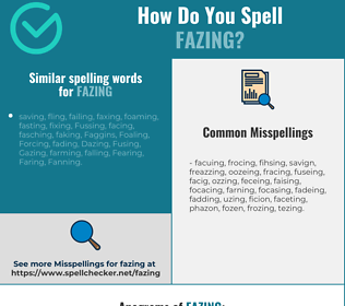 Correct spelling for fazing