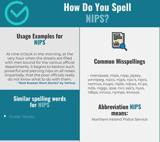 Correct spelling for nips