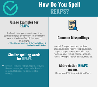 Correct spelling for reaps
