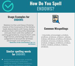 Correct spelling for endows