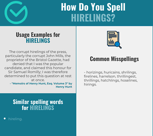 Correct spelling for hirelings