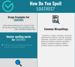 Correct spelling for loathes