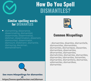 Correct spelling for dismantles
