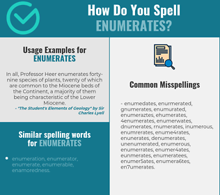 Correct spelling for enumerates