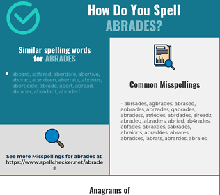 Correct spelling for abrades