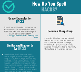 Correct spelling for hacks