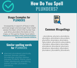 Correct spelling for plunders