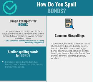 Correct spelling for bonds