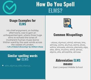 Correct spelling for elms