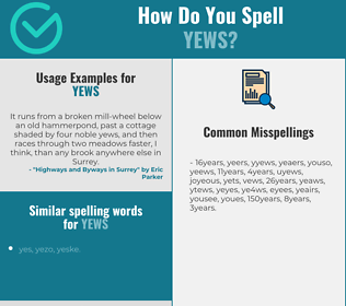 Correct spelling for yews