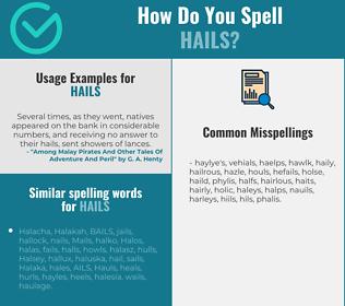 Correct spelling for hails