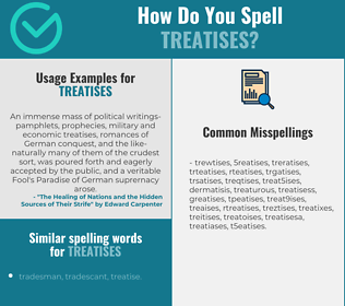 Correct spelling for treatises