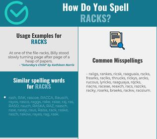 Correct spelling for racks