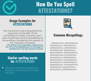 Correct spelling for attestations