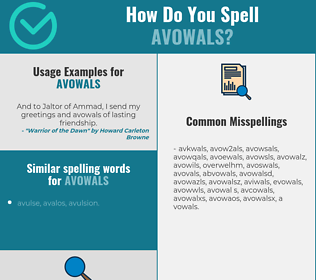 Correct spelling for avowals