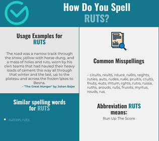 Correct spelling for ruts