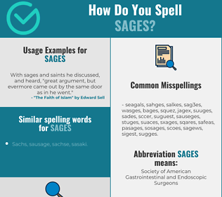 Correct spelling for sages