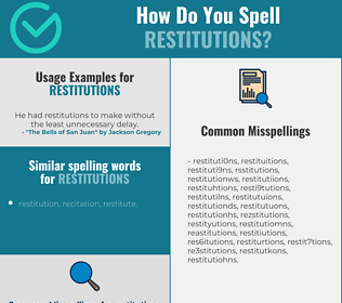 Correct spelling for restitutions