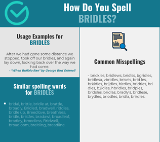 Correct spelling for bridles