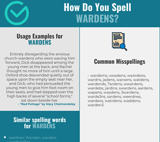 Correct spelling for wardens