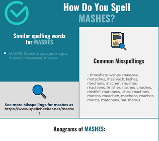 Correct spelling for mashes