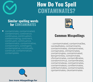 Correct spelling for contaminates
