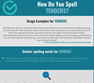 Correct spelling for tenders