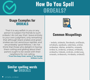 Correct spelling for ordeals