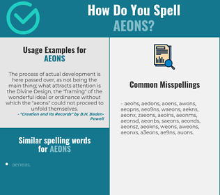 Correct spelling for aeons