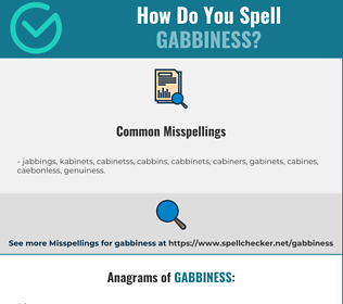 Correct spelling for gabbiness