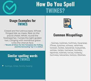 Correct spelling for twines