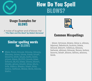 Correct spelling for blows